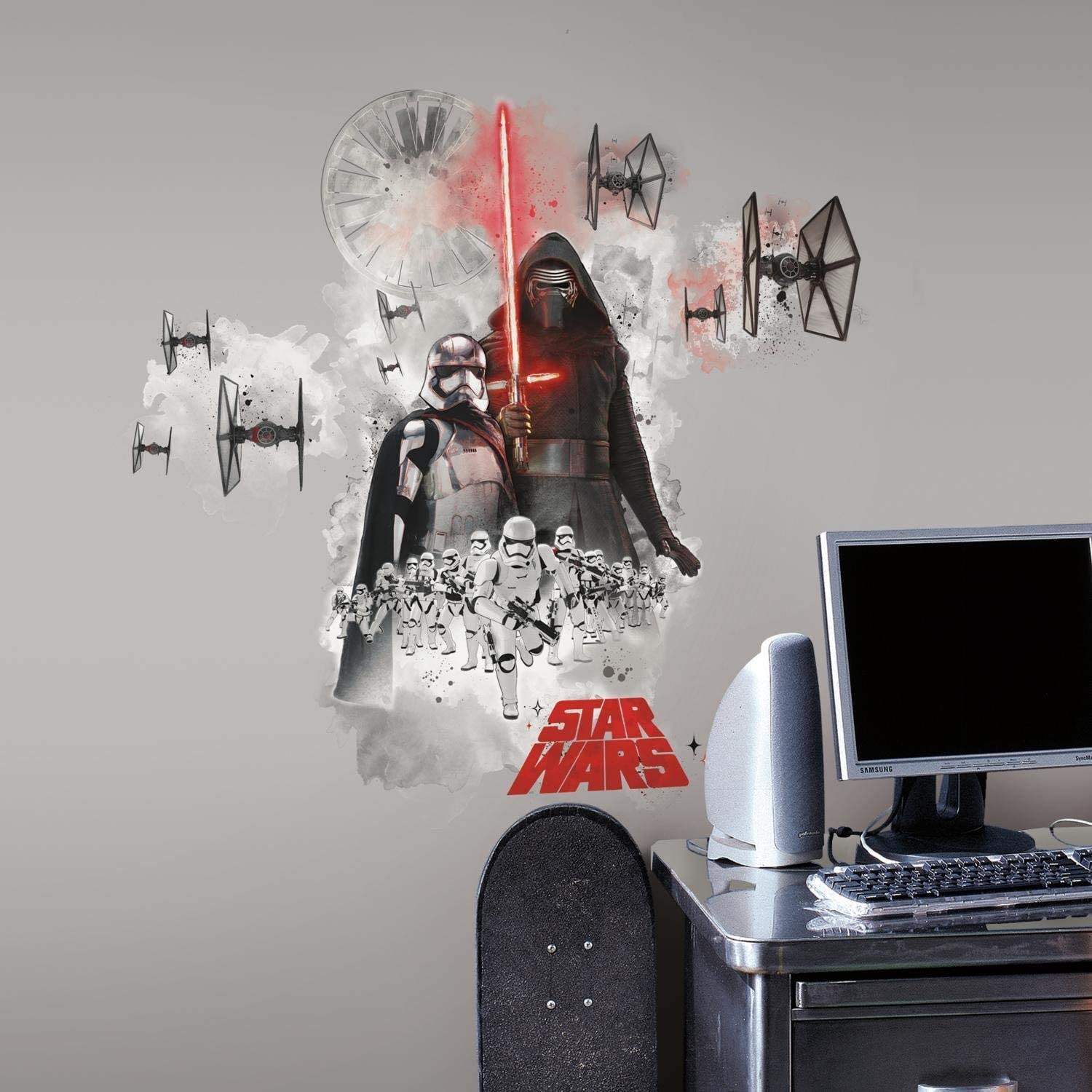 RoomMates Star Wars The Force Awakens Ep Vii Villians Burst Peel and Stick Giant Wall Decal,Multicolor