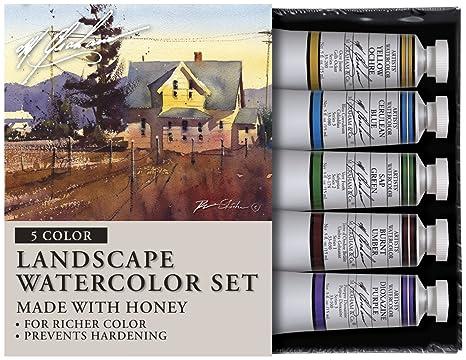 M. Graham Tube Watercolor Paint Landscape 5-Color Set, 1/2-
