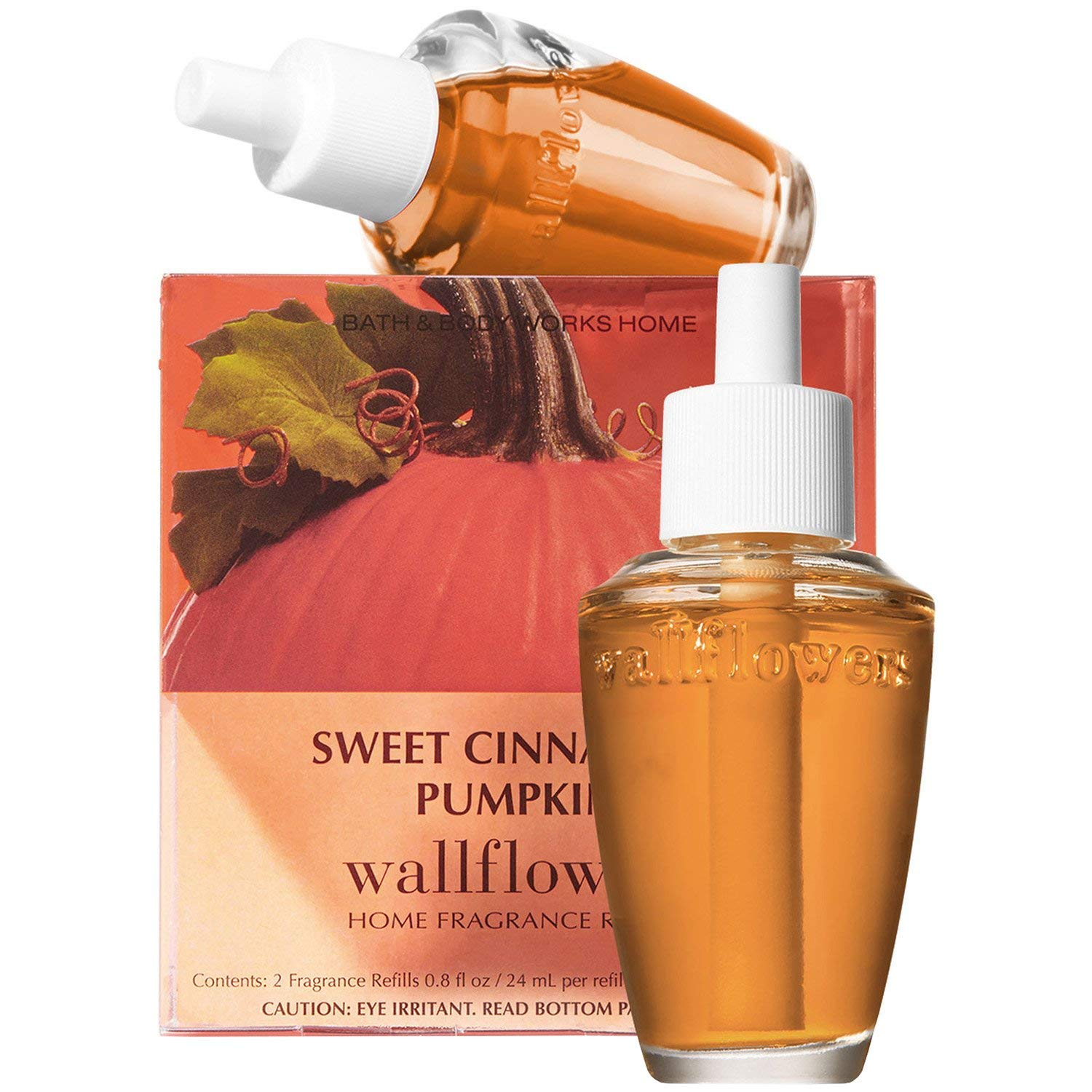 Bath & Body Works Sweet Cinnamon Pumpkin Wallflowers Home Fragrance Refills, 2-Pack (1.6 fl oz total)