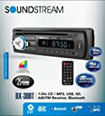 Soundstream DX30BT Built-in Bluetooth Car CD MP3 Player Multi Color Buttons