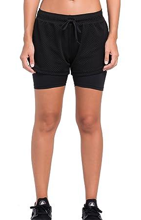 Cody Lundin® Mujer Compresión Deporte Pantalones cortos con polainas Yoga Trotar Corriendo Corto Pantalones Capas base (negro, XXL): Amazon.es: Deportes y ...