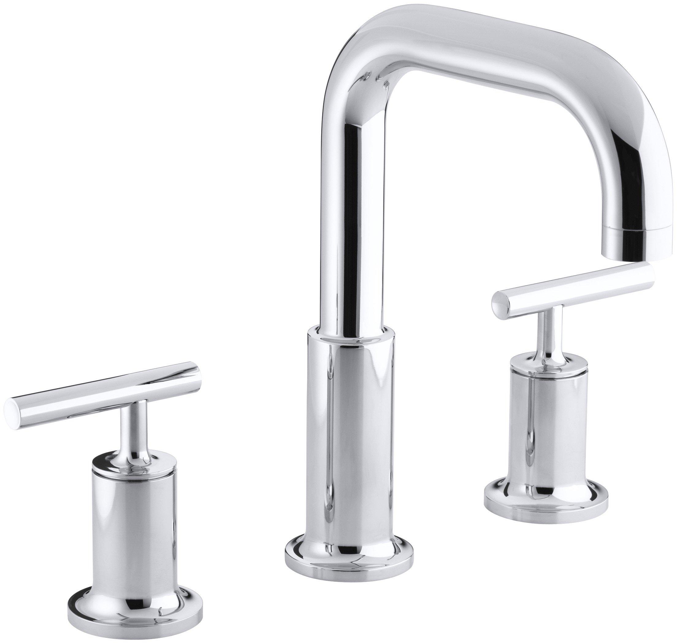 KOHLER K-T14428-4-CP Purist Bath- or Deck-Mount High-Flow Bath Faucet Trim, Polished Chrome by Kohler