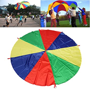 612e80172276 Juego de Paracaídas para Niños,GZQ,Juego Infantil con color Acro Iris,  Juguete de Deporte al Aire Libre (3M): Amazon.es: Juguetes y juegos