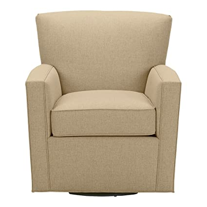 Exceptionnel Ethan Allen Turner Swivel Chair, Palmer Oyster Chenille Fabric