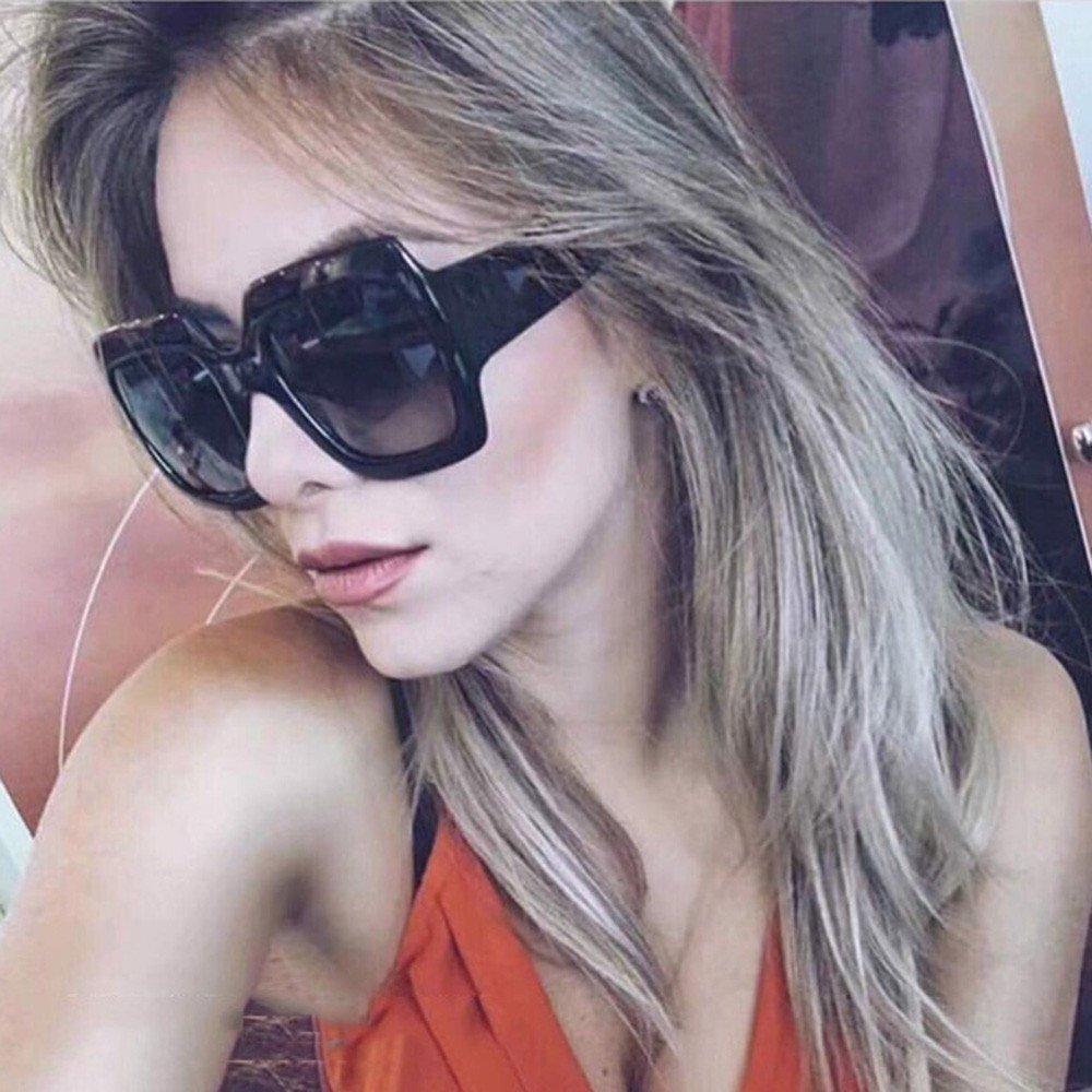Topgrowth Occhiali da Sole Donna Quadrati Oversized Piazza Occhiali da Sole di Lusso Lenti Sfumate Vintage Eyewear Sunglasses