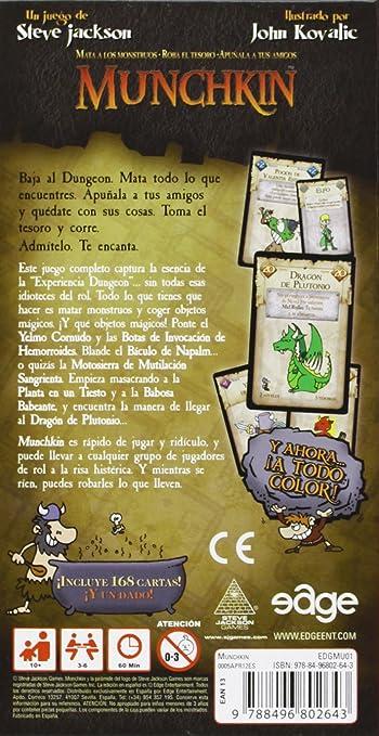 Munchkin Edicion Revisada Juego De Cartas: Jackson Steve: Amazon.es: Juguetes y juegos