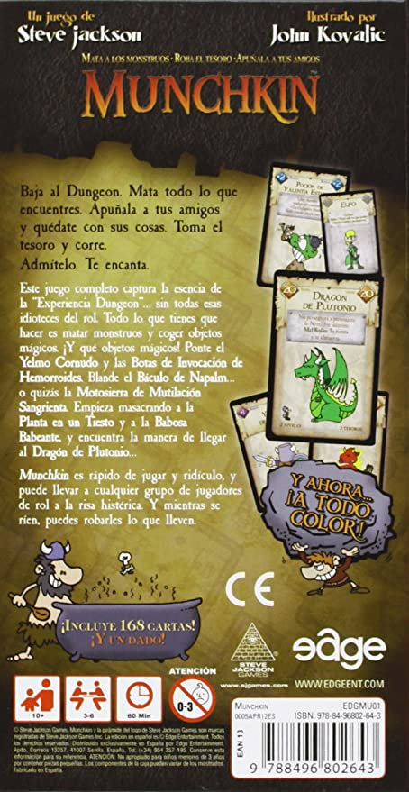 Munchkin Edicion Revisada Juego De Cartas
