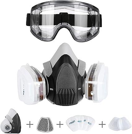 maschera antipolvere con filtri