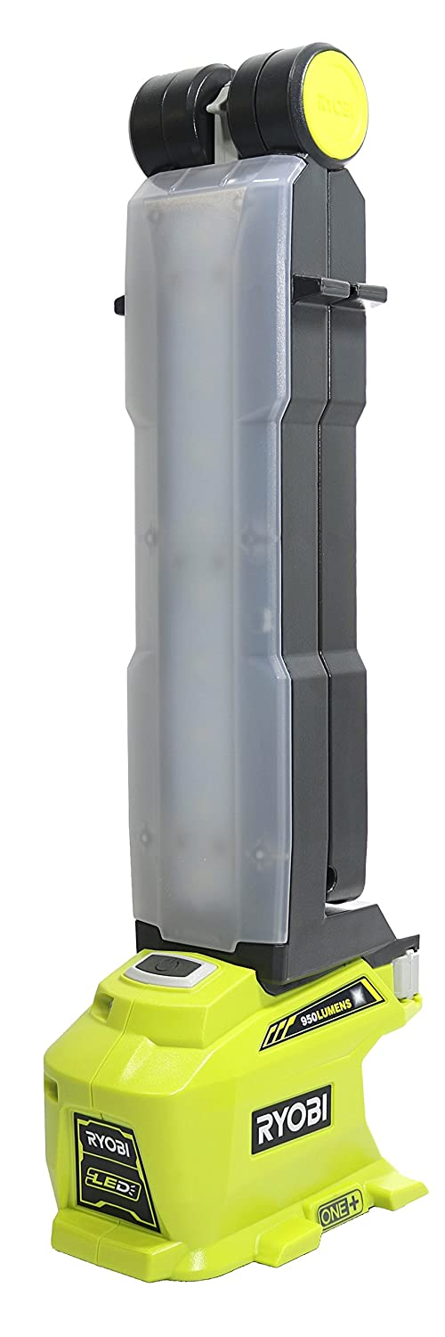 Ryobi P727 One+ 18 Volt 950 Lumen 270 Degree Rotating LED Work Light with Integrated Mounting Hooks (Battery Not Included, Light Only)