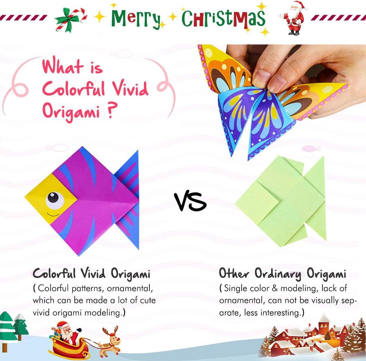 Amazon.com: Gamenote Kit de origami colorido para niños, 118 ...