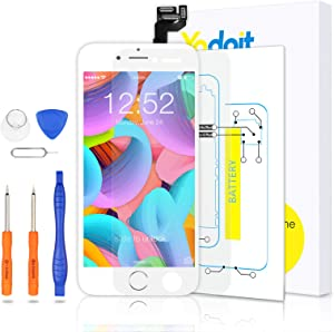 for iPhone 6s Touch Screen Replacement - Yodoit LCD Display Digitizer Glass Full Assembly with Small Parts Camera Proximity Sensor Home Button Earpiece Speaker 3D Touch + Tool (4.7 inches White)