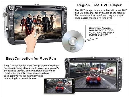 Reproductor de CD y DVD estéreo DAB+ Radio RDS Sat Naval Bluetooth ...