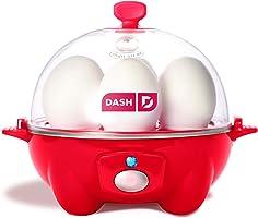 Dash Rapid 雞蛋鍋: 6 個雞蛋容量電動雞蛋鍋,适用于煮蛋、荷包蛋、炒蛋或煎蛋卷,帶自動關閉功能