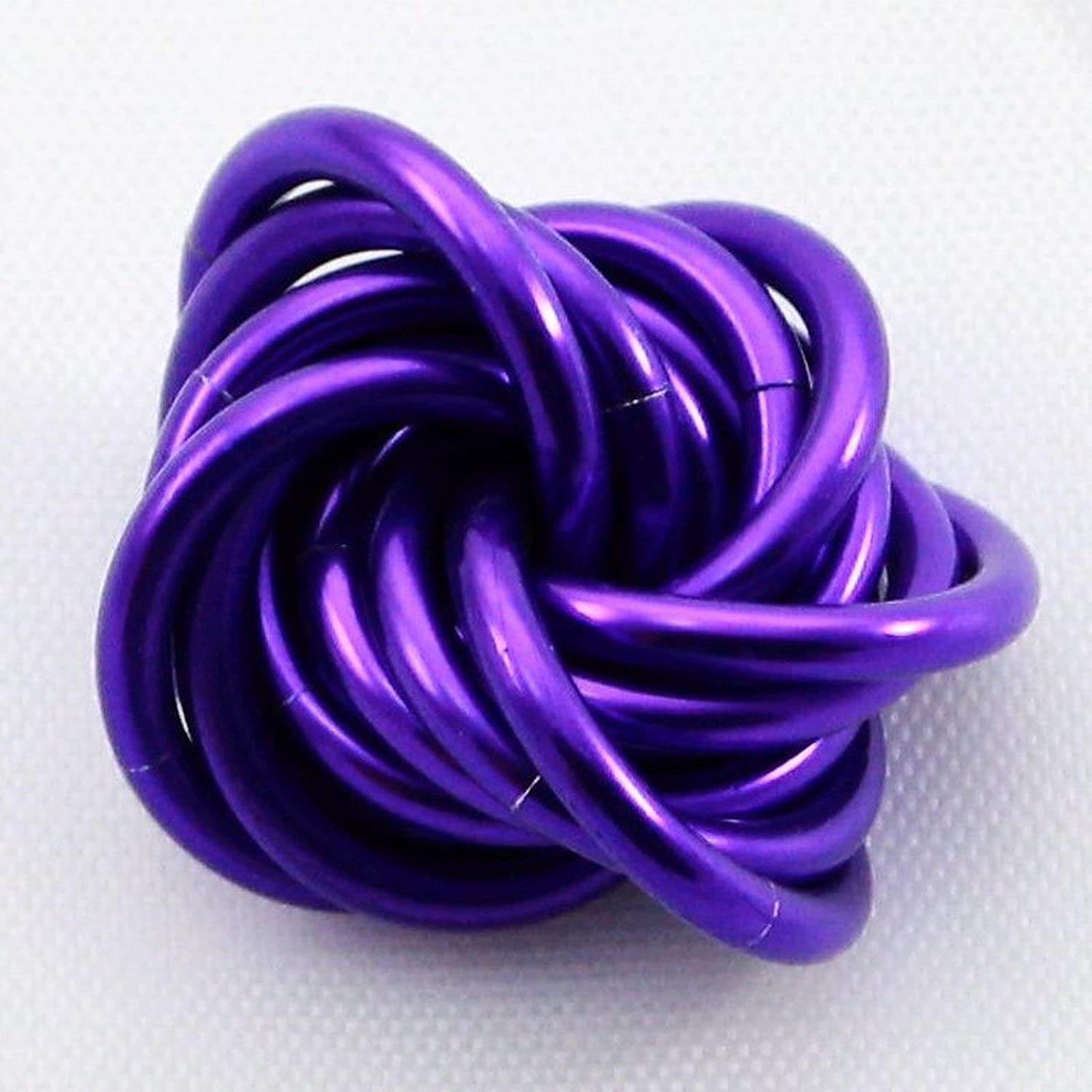 Shiny Deep Purple Stress Ball for Restless Hands Small Mobius Hand Fidget Toy Office Toy M/öbii Ultra Violet
