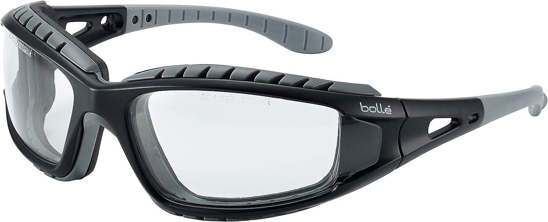 Bolle TRACPSI - Gafas protectoras, Anti-rayaduras y Anti-vaho, Lentes Incoloro