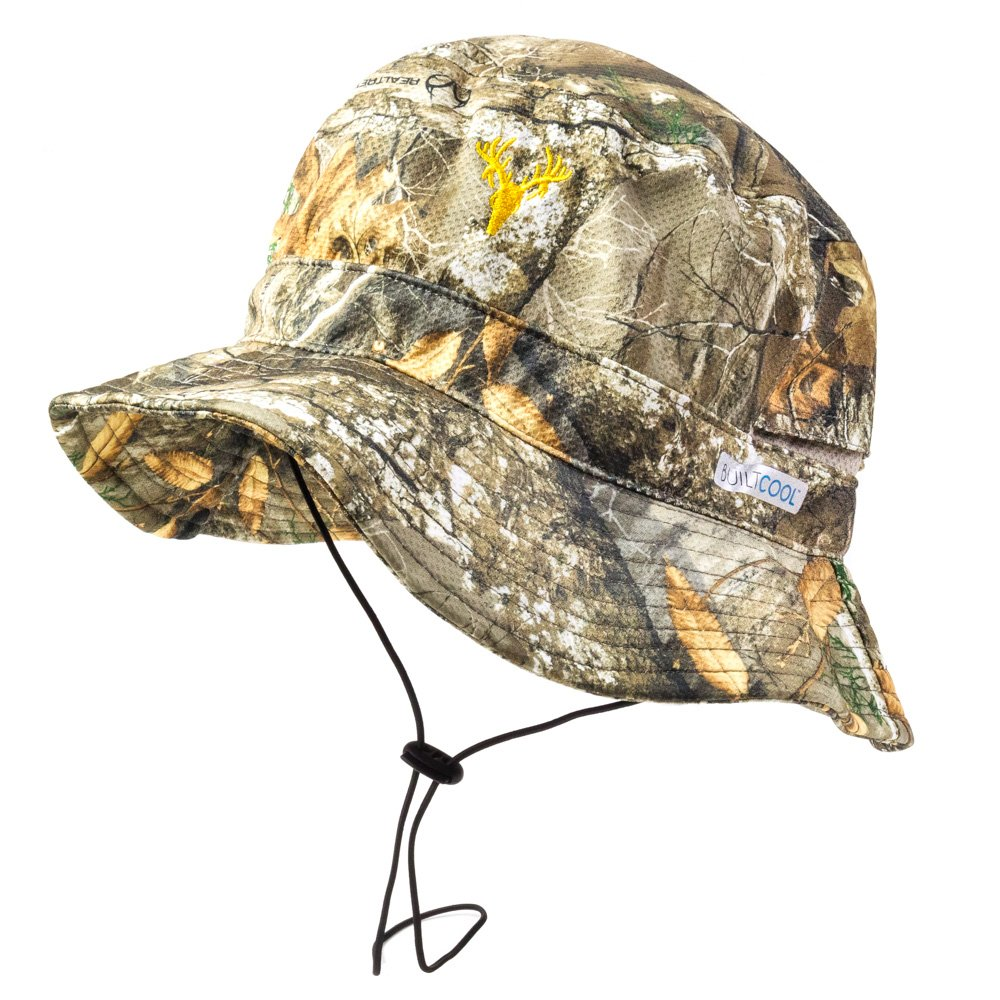 Builtcool Men's Realtree Camo Bucket/Boonie Hat with moisture activated cooling technology- Perfect for hunting fishing and all outdoor activities One Size