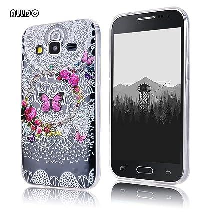 AllDo Funda Silicona para Samsung Galaxy Core Prime G360 Carcasa Protectora Funda Transparente Claro Caso Suave TPU Soft Silicone Case Cover Bumper ...