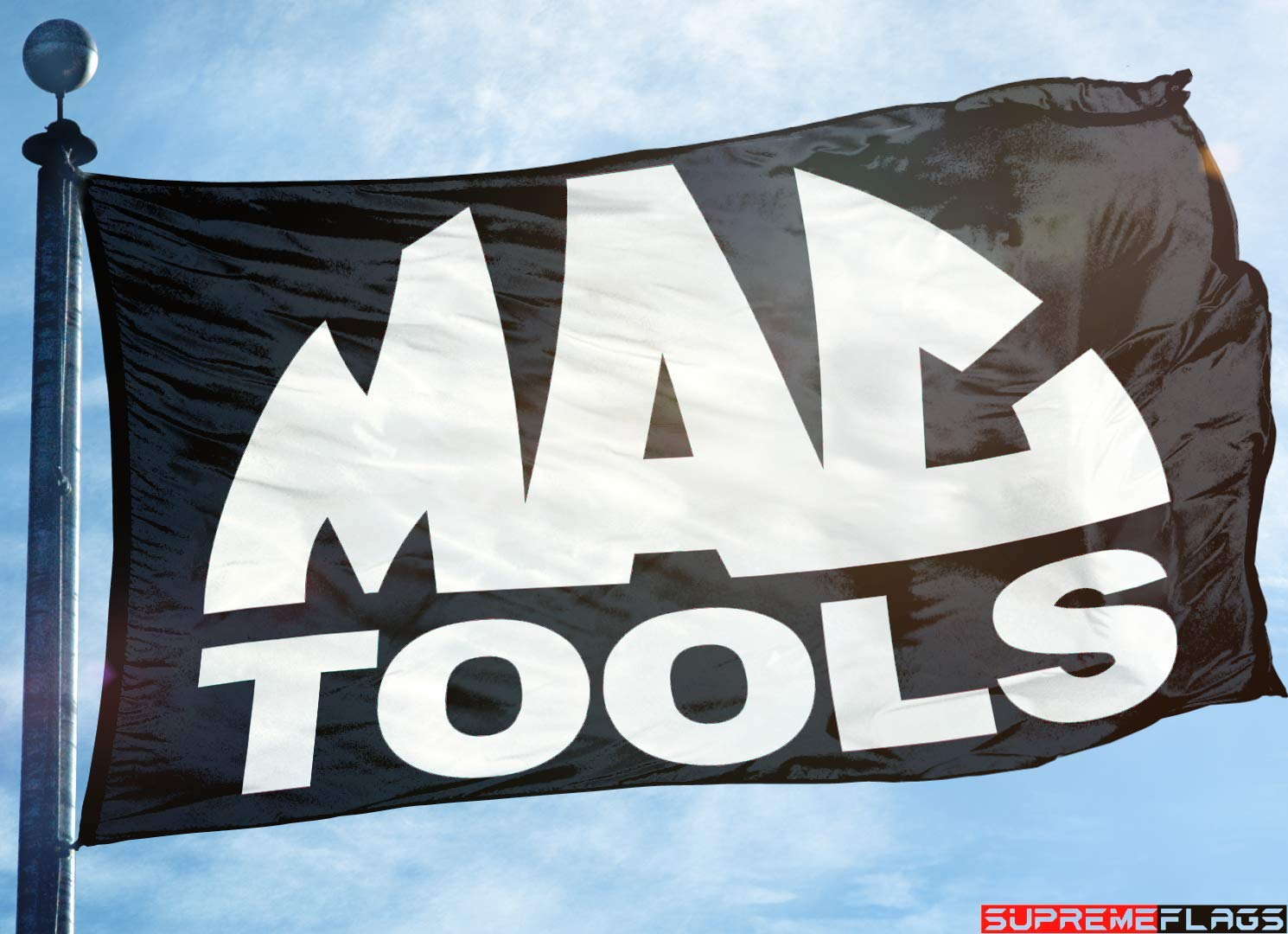 MAC Tools Flag Banner (90 x 150 cm) Products Racing Wall Garage Black Supreme Flags