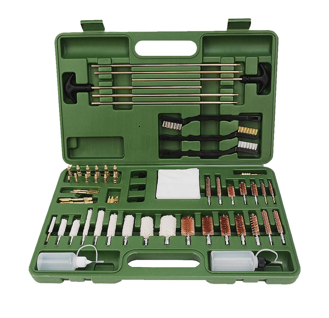FIREGEAR Gun Cleaning Kit Universal Supplies for Hunting Rifle Handgun Shot Gun Cleaning Kit for All Guns with Case by FIREGEAR