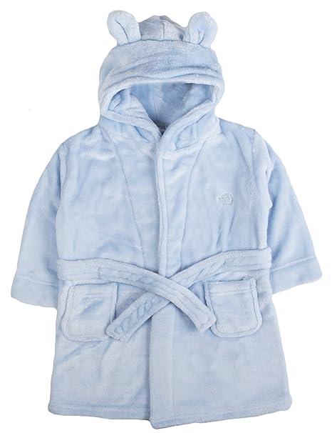 Bata para bebé con capucha de forro polar suave, tamaño 6 - 24 meses: Amazon.es: Ropa y accesorios