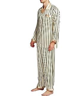 Beancan Mens Silk Satins Set Pyjamas Pjs Set Sleepwear Loungewear S M L XL 2XL 3XL 4Xlfits All