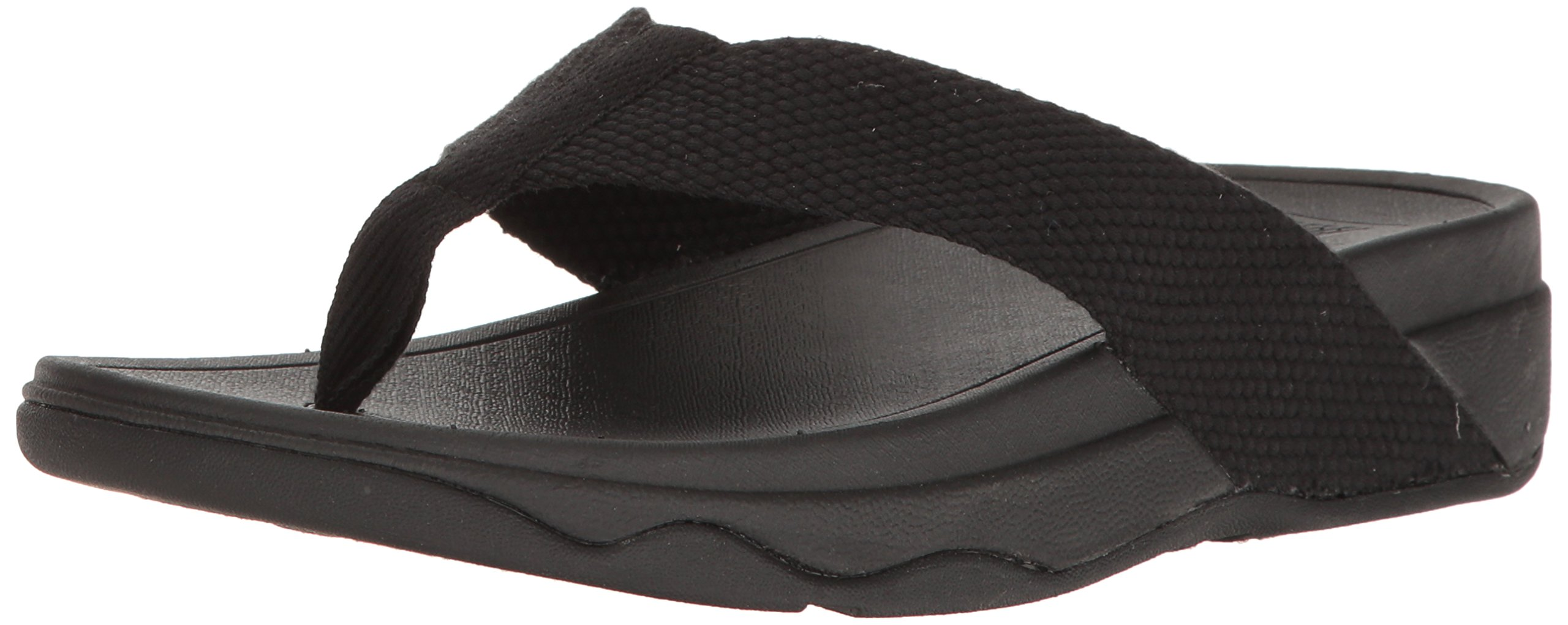 FITFLOP Women's Surfa Flip-Flop, Black, 9 M US by FITFLOP