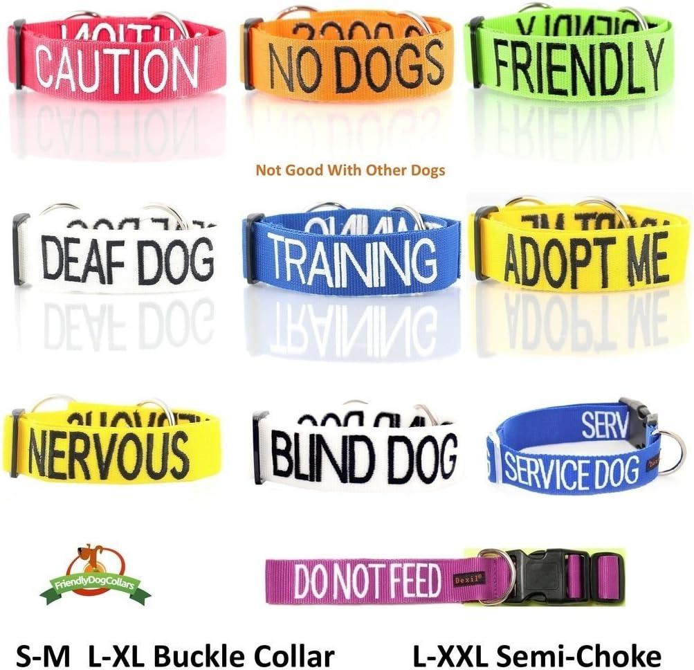 para evitar accidentes al avisar a otros de tu perro con antelaci/ón color blanco con c/ódigo de color blanco Correa acolchada para perro sordo