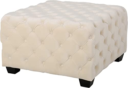 Christopher Knight Home Morris Fully Tufted Square Ottoman