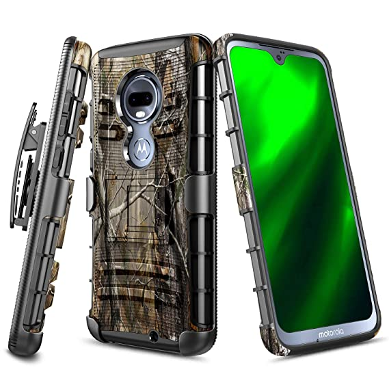 Moto G7 Case, Moto G7 Plus Case, NageBee Belt Clip Holster Defender Heavy  Duty Shockproof Kickstand Dual Layer Combo Rugged Armor Durable Ultra