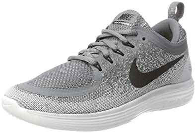 Nike Women's Free RN Distance 2 Cool Grey/Black Wolf Grey Running Shoe 5  Women