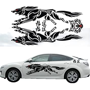 Katoot personalized 3d wolf totem decals car stickers full body car styling vinyl decal sticker
