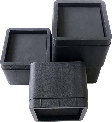 Furniture Risers Durable//Stackable miixhoom 4 Pack Bed Risers Heavy Duty Dark Wooden Color Square Elevator up to 3 INCH Per Riser
