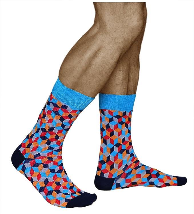 vitsocks Calcetines Originales Hombre Funky Motivo Geométrico ALGODÓN PEINADO, Joy: Amazon.es: Ropa y accesorios