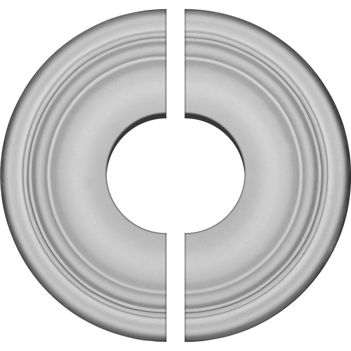 Ekena Millwork CM09MA2-03500 9 5/8''OD x 3 1/2''ID x 1 1/8''P Maria Ceiling Medallion, Fits Canopies up to 3-1/2'', 2 Piece