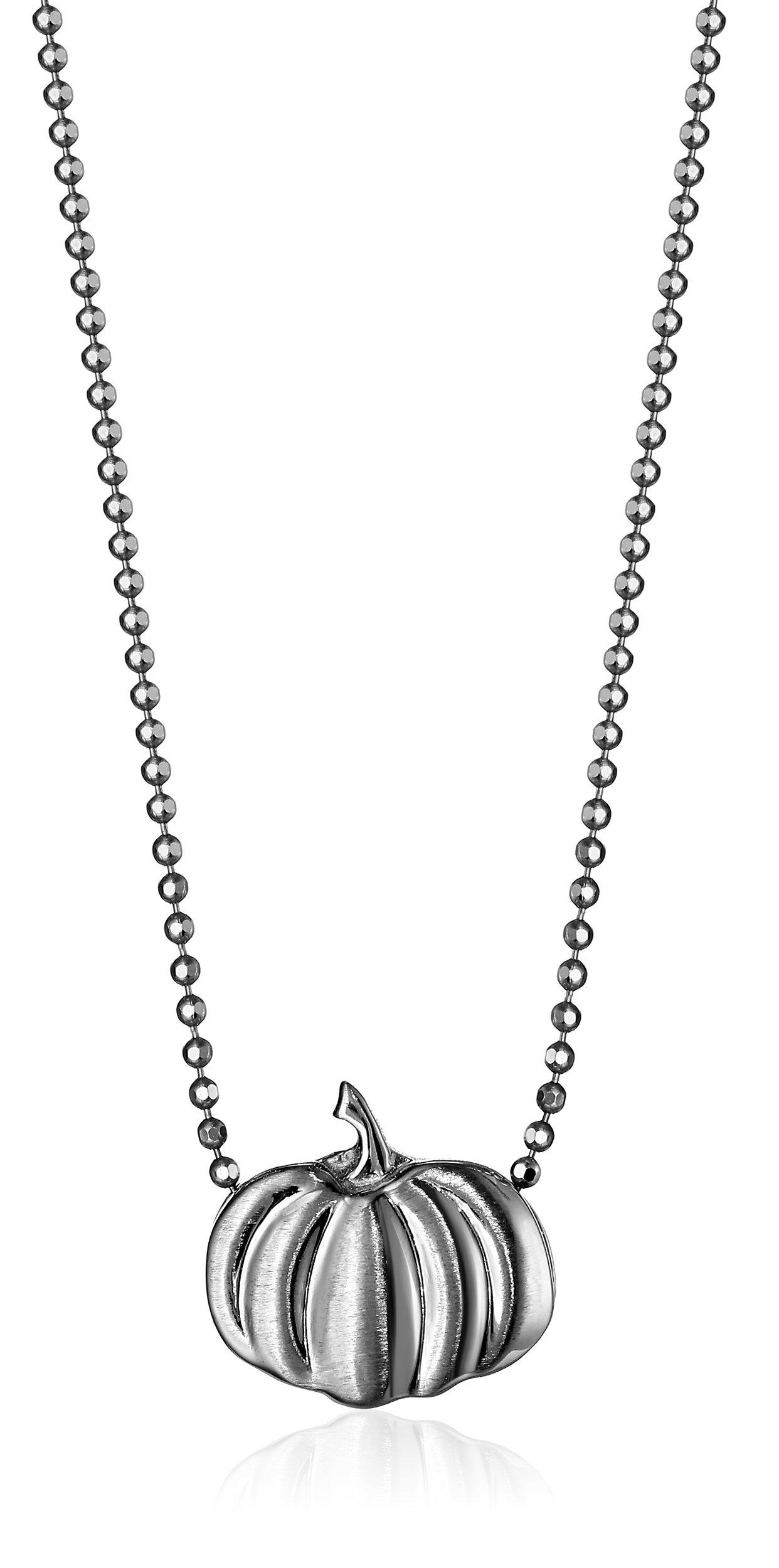 Alex Woo ''Little Seasons'' Sterling Silver Pumpkin Pendant Necklace, 16''