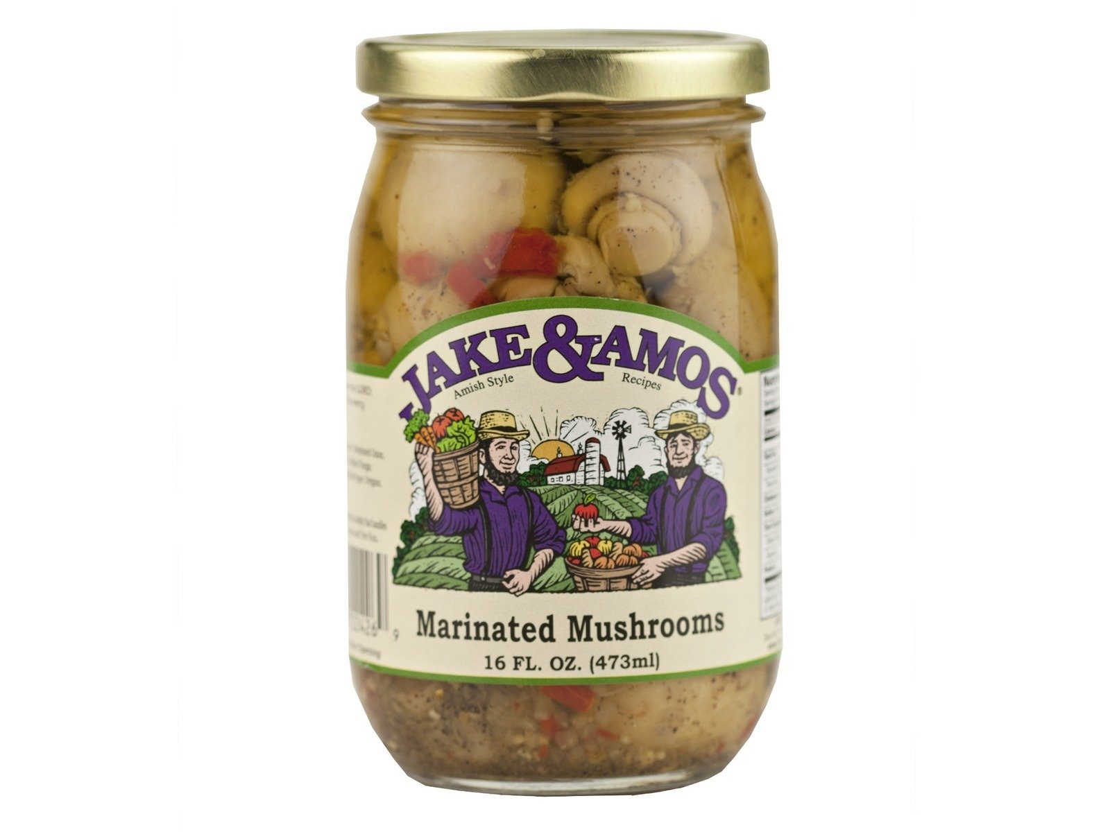 Jake & Amos Marinated Mushrooms, 16 Ounce - 3 Pack by Jake & Amos
