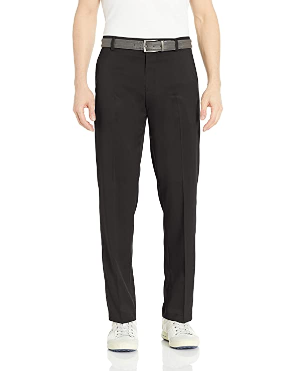 Amazon Essentials Men's Standard Classic-Fit Stretch Golf Pant, Black, 42W x 30L best men's golf pants
