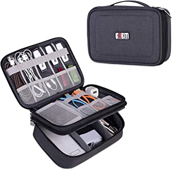 BUBM Double Layer Travel Electronic Organizer