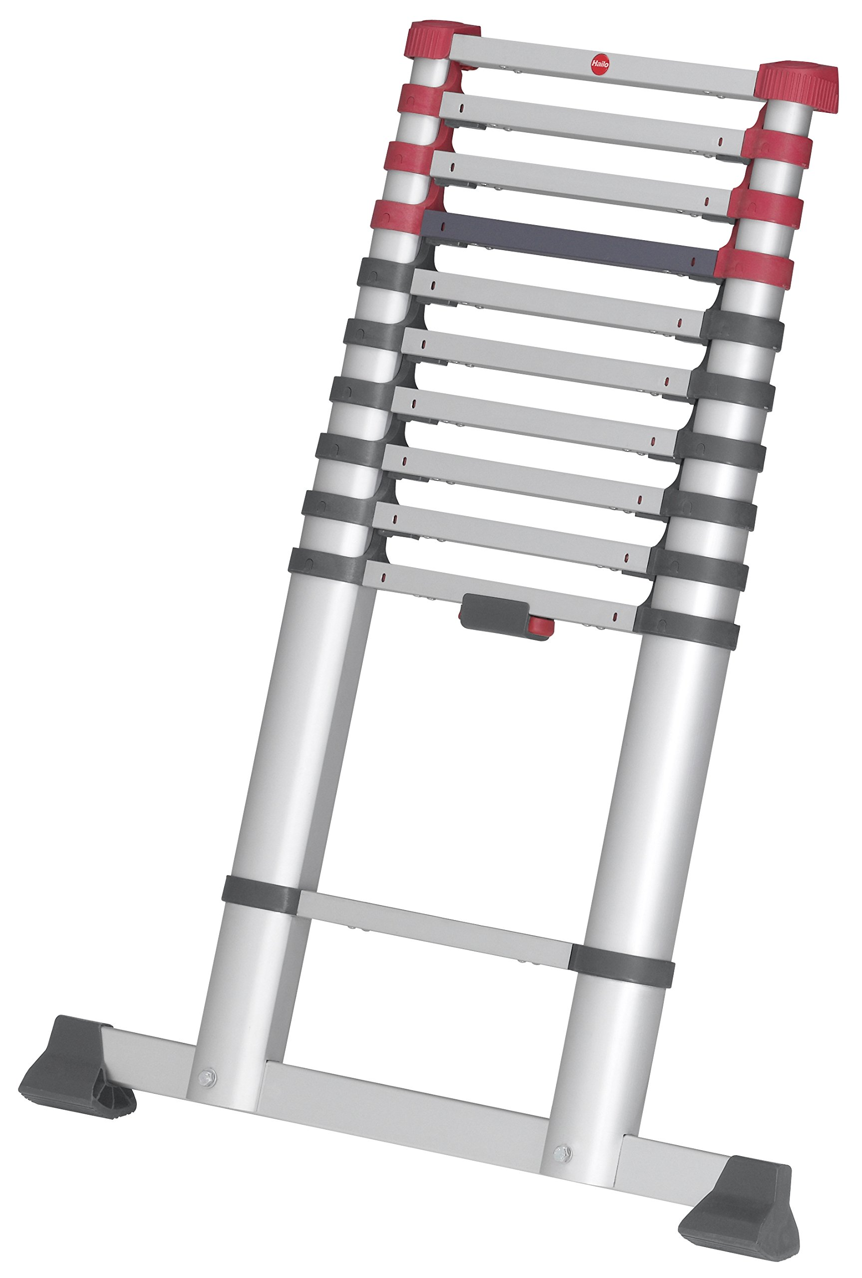 Hailo 9204015541 Aluminium Safety Telescopic Ladder