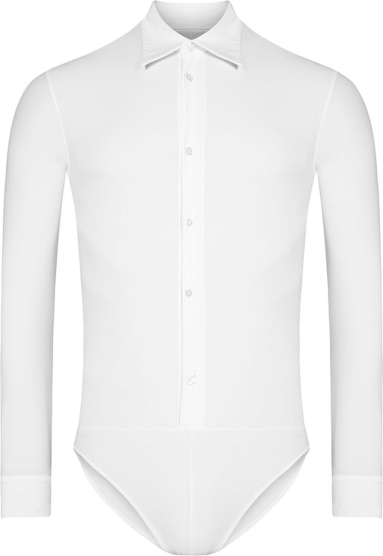 Rumpf ru5700 Chicago Hombre estándar Entrenamiento Latina Competición Body Camisa, Color Weiß, tamaño Small: Amazon.es: Deportes y aire libre