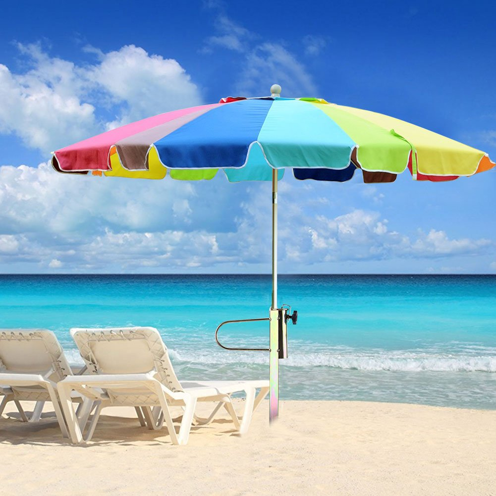 Sombrilla para el sol Sombrilla de arena Sombrilla parag/üero de metal Soporte de suelo Rotary ajustable para el jard/ín de la playa de pesca al aire libre