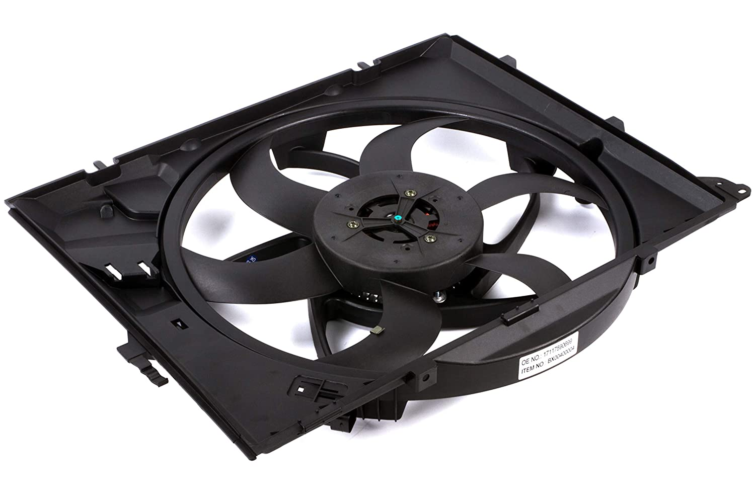 BOXI 400 Watts Engine Cooling Fan Assembly with Auto Transmission For BMW E90 128i 325i 325xi 328i 328i xDrive 328xi 330i 330xi Z4 17427523259,17117590699