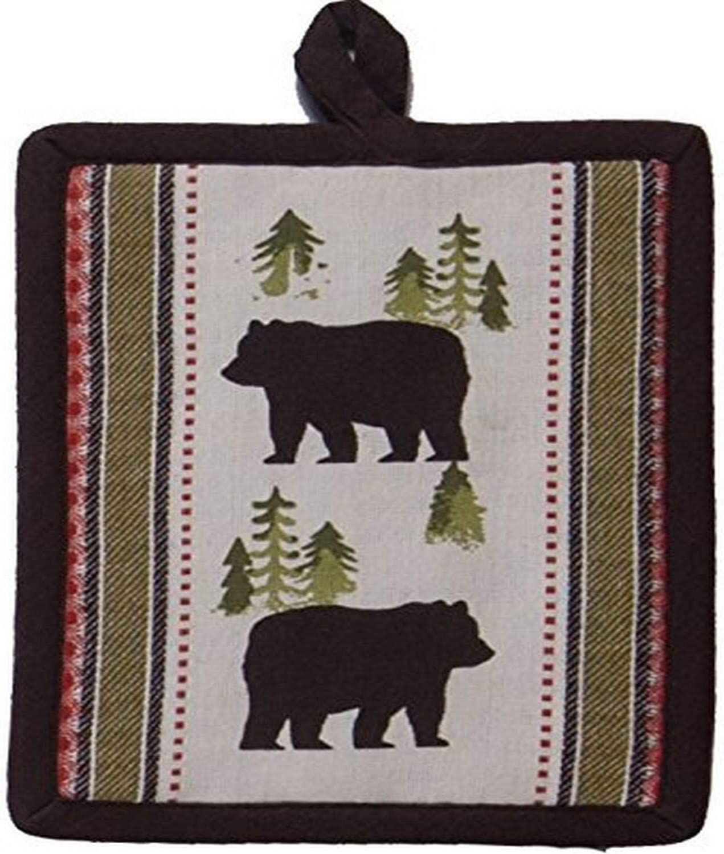 Kay Dee Designs R3312 Simple Living Bear Printed Woven Potholder