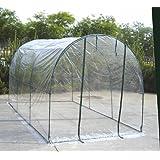Serra a tunnel acciaio 200x300xh180 giardino orto protezione piante fiori 647-14