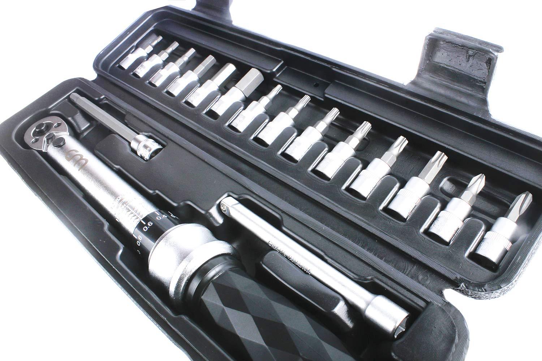CM Bicycle Bike Diamond-shaft Torque Wrench Home/&Garden Tool Box Set 5-25Nm
