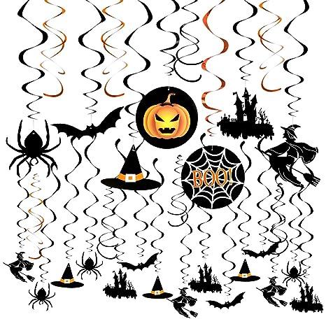 Weeygo 30 Pezzi decorazioni da appendere di Halloween Appendere Zucca  Fantasma Ragnatela Addobbi Orrore Puntelli per 145fc142a29d
