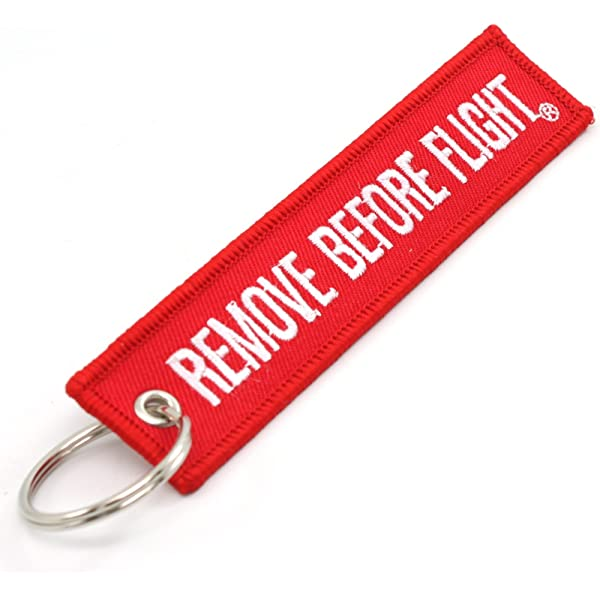 3 Pack Red by RBF1476 Rotary13B1 Remove Before Flight Key Chain