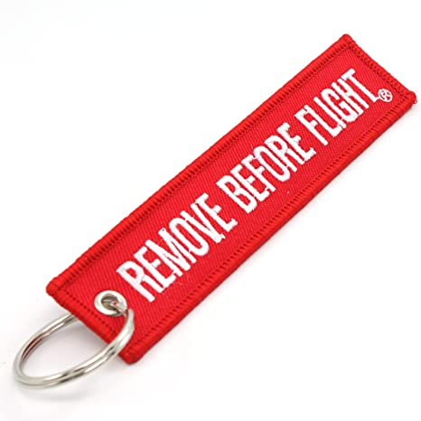 Rotary13B1 Remove Before Flight Key Chain - Red/White 1pc