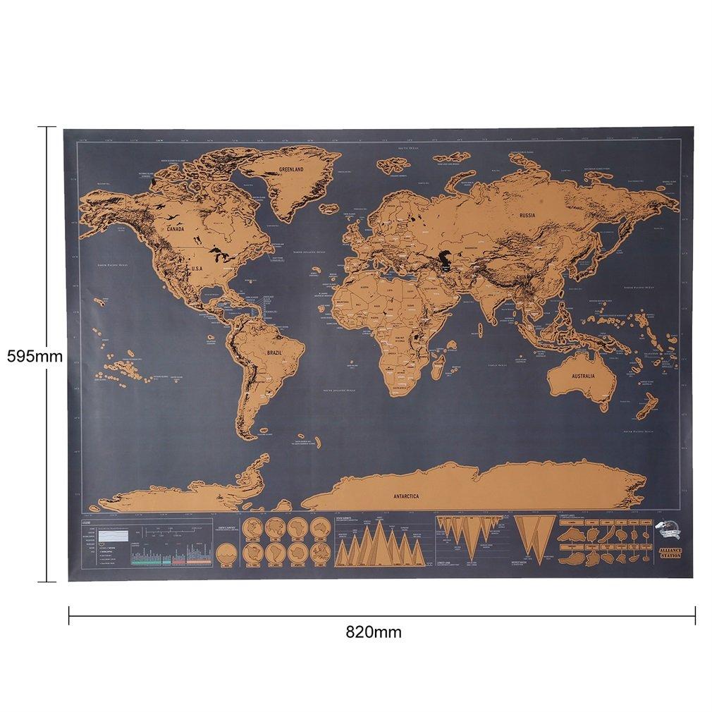 Outad Kratz Weltkarte Zum Abkratzen Von Orten Personalisierbare
