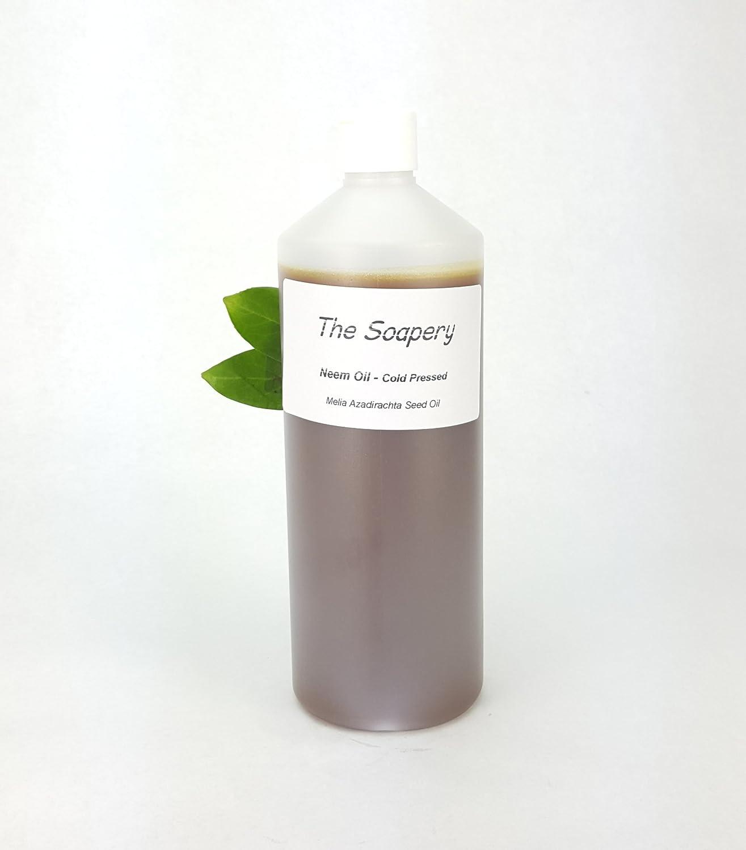 Aceite de nim, 1 litro, prensado en frío, virgen, sin refinar, 100 % natural